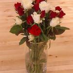 roses vase photo