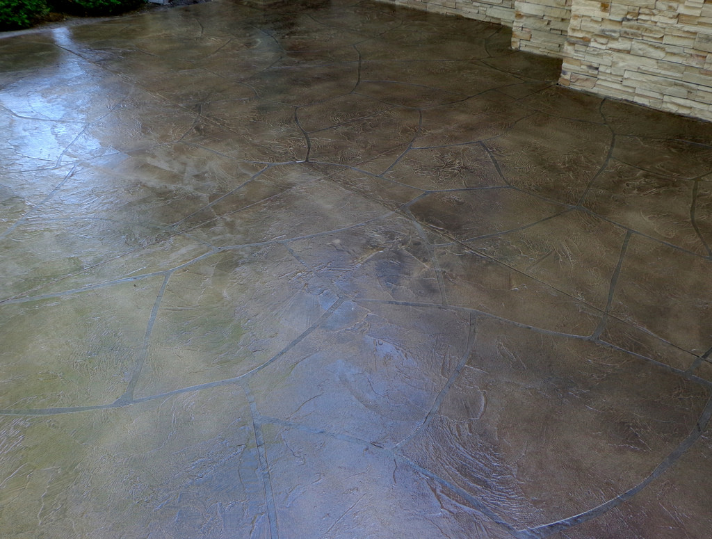 Diy How To Acid Stain A Concrete Patio Dan330.  Acidstainedpatiowithfurniture. Acidstainedpatiowithfurniture