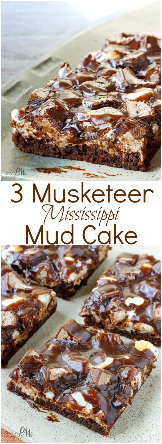3 Musketeer Mississippi Mud Cake