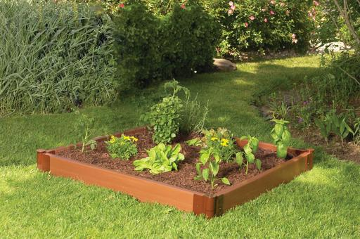 4' X 4' Complete Single Level Raised Bed Garden; Composite Timber