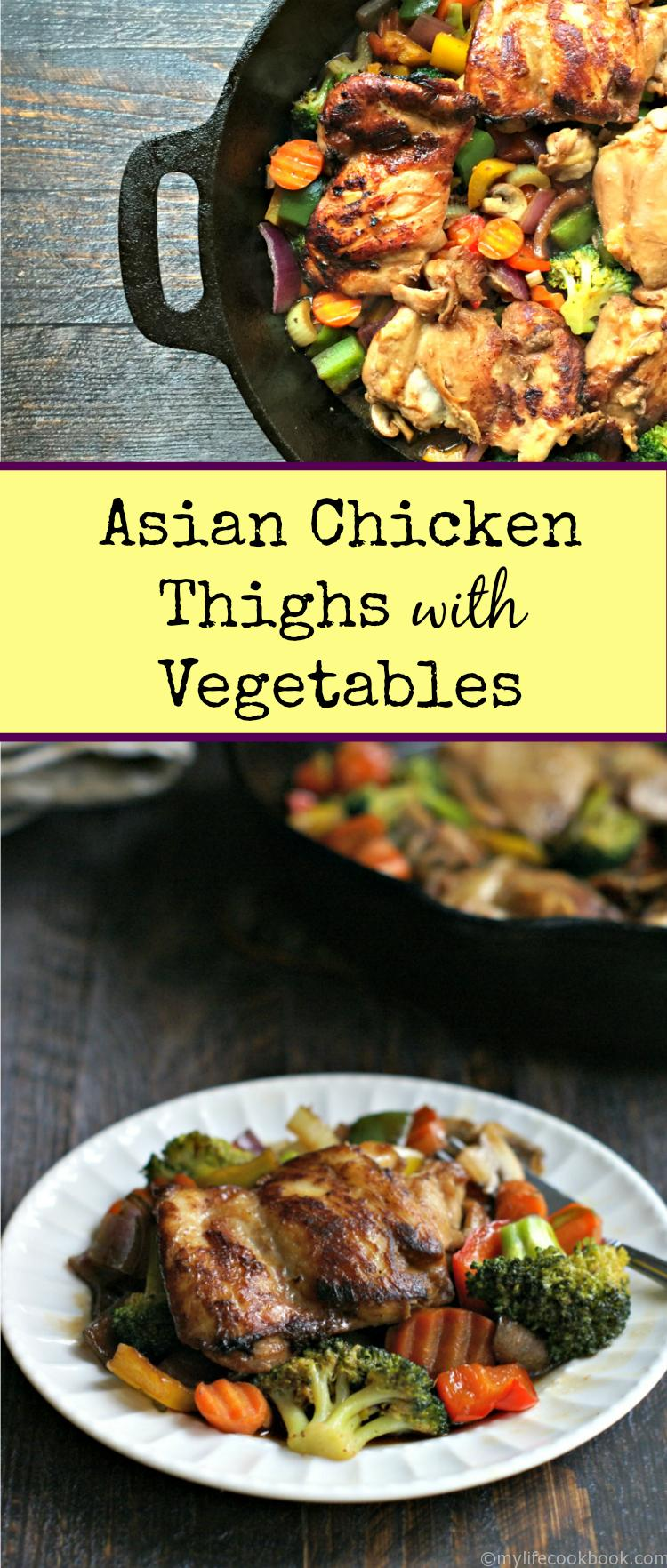 Asian Chicken Thighs with Vegetables