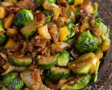 Bacon Apple & Caramelized Onion Brussels Sprouts small