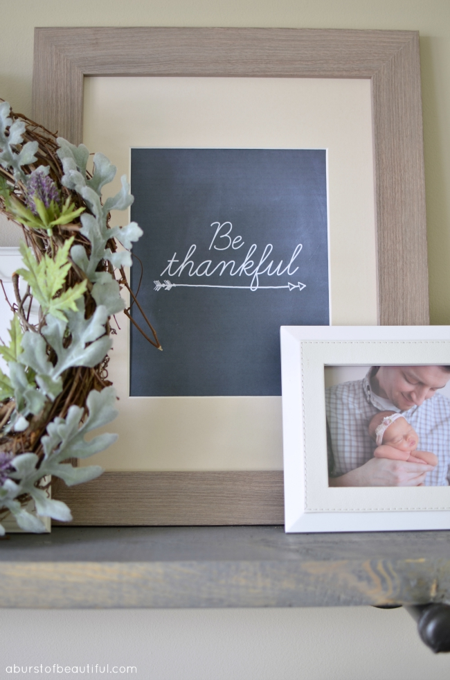 Be Thankful Printable and Fall Vignette_4