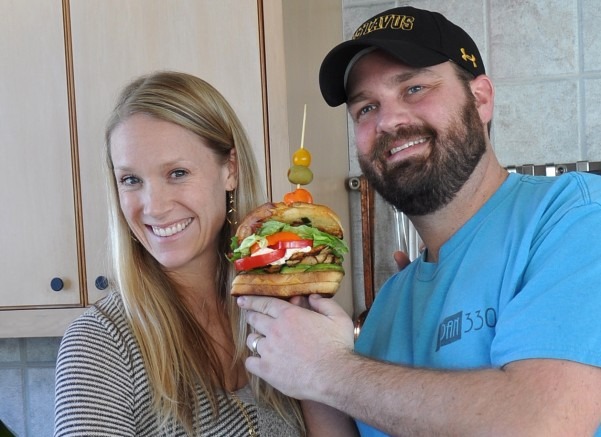 Chris and Sarah of Dan330 with their creation the Boars Head Beast