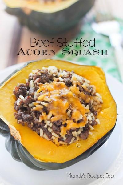 Beef Stuffed Acorn Squash