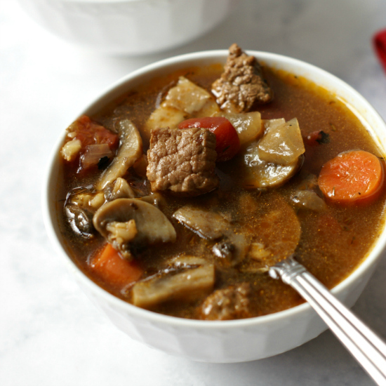 Best Beef & Barley Soup