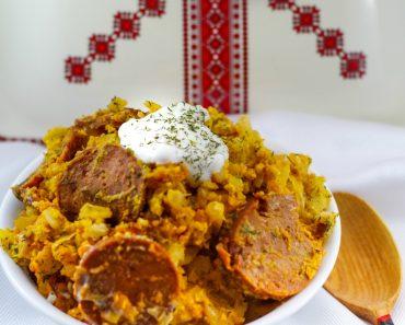 Bowl of Ukrainian Daughter's slowcooker casserole dish