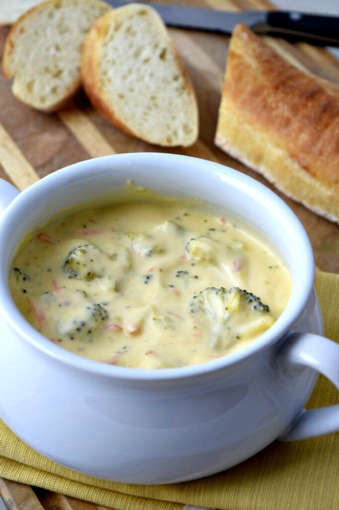 This hearty soup includes broccoli as well as carrots, celery, onions ...