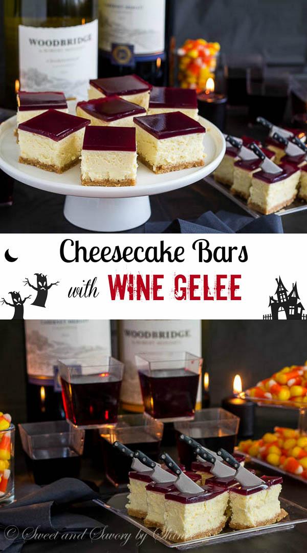 Cheesecake Bars with Wine Gelée-8