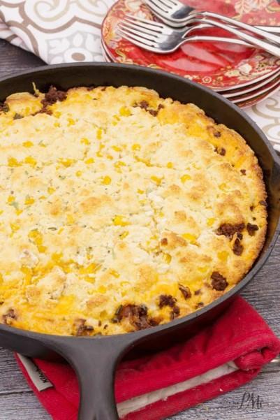 Cheesy Chorizo Cornbread 2w