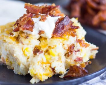 Cheesy Grits Casserole with Bacon and Corn small