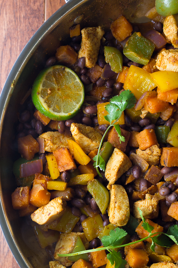 Chili-Lime Chicken and Sweet Potato Skillet-4