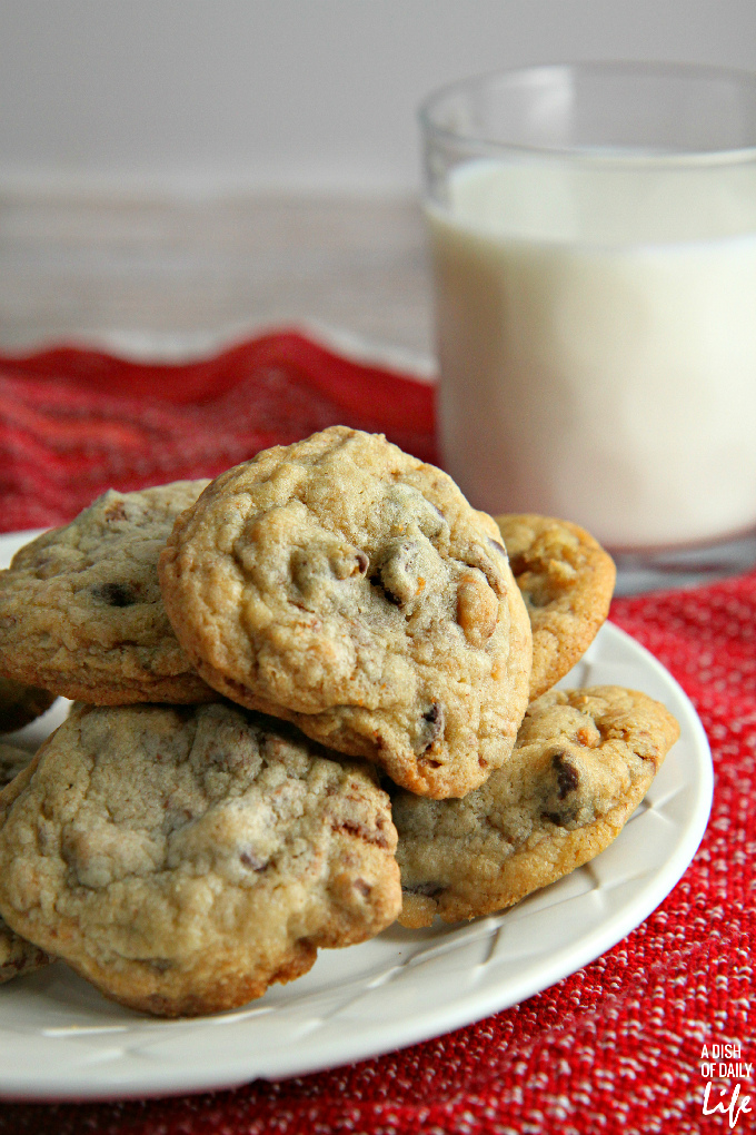 Chocolate Chip Coffee Toffee Cookies