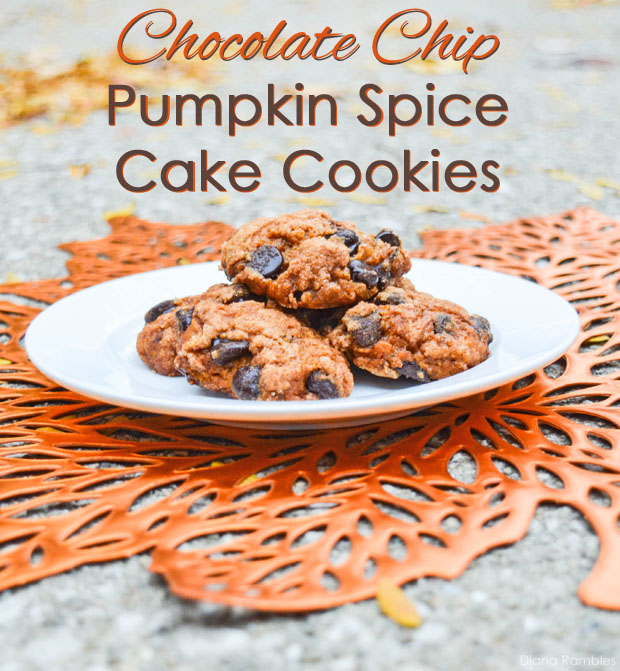 Chocolate Chip Pumpkin Spice Cake Cookies