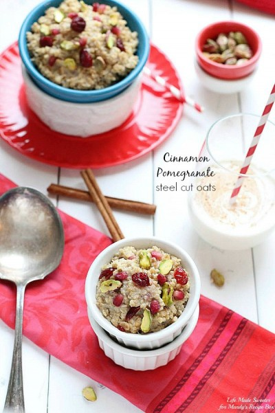 Cinnamon-Pomegranate-Steel-Cut-Oats-Slow-Cooker-by-@LifeMadeSweeter