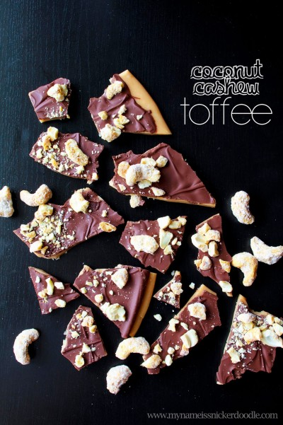Coconut-Cashew-Chocolate-Toffee-In-Minutes