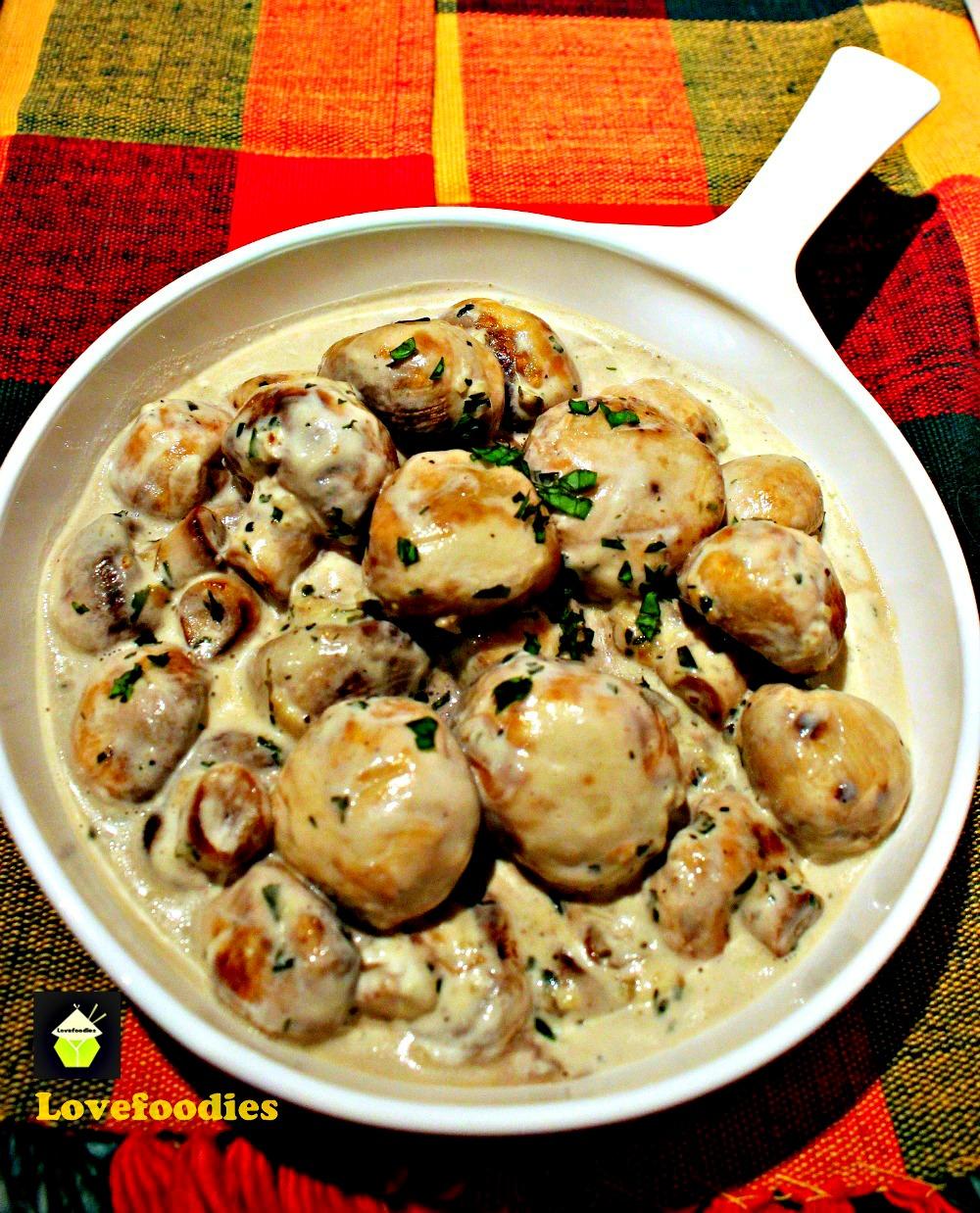 Creamy Garlic Mushrooms – Dan330