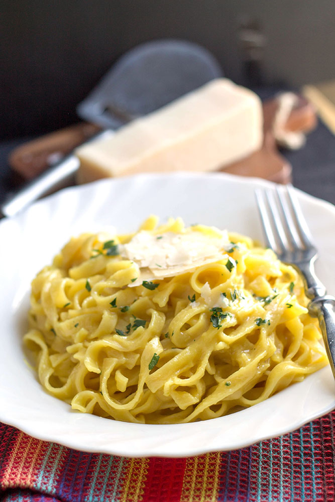 your average cream sauce with this luxurious Creamy Saffron Pasta ...