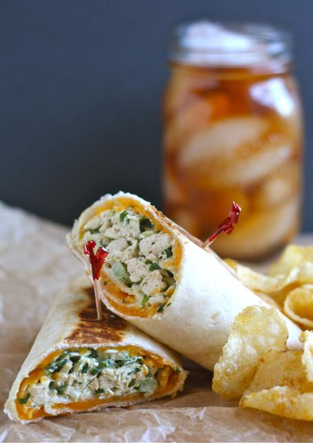 Crispy Chicken Salad Wrap