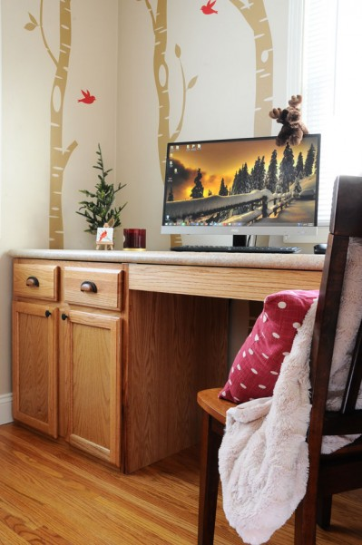 DIY-Desk-Office-Stock-Cabinets-Woodsy-Forest-Nature-Natural-Homemade-Lowes-Countertop-Laminate-The-Miniature-Moose-2