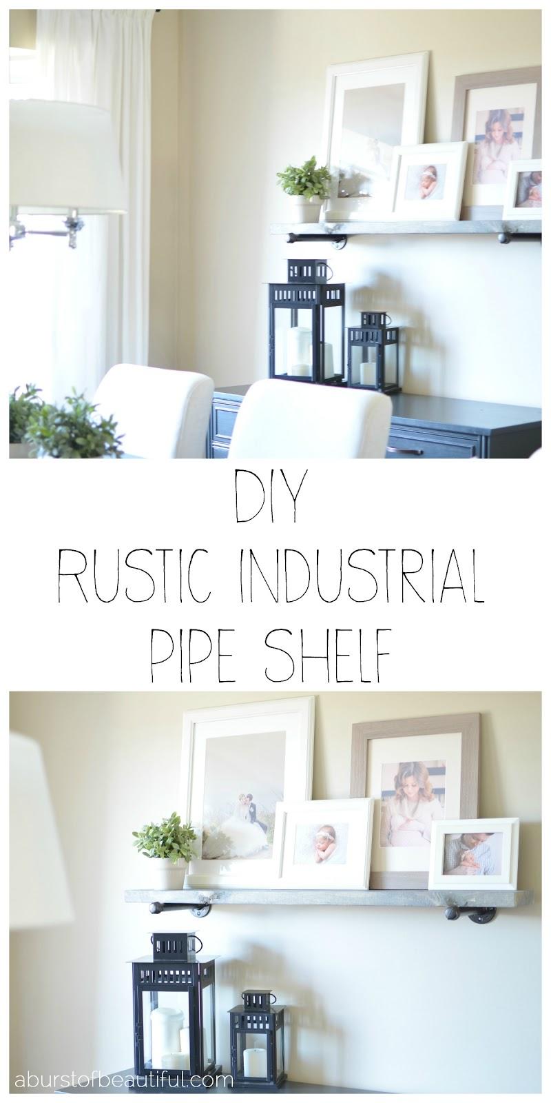 DIY Industrial Shelf_Collage