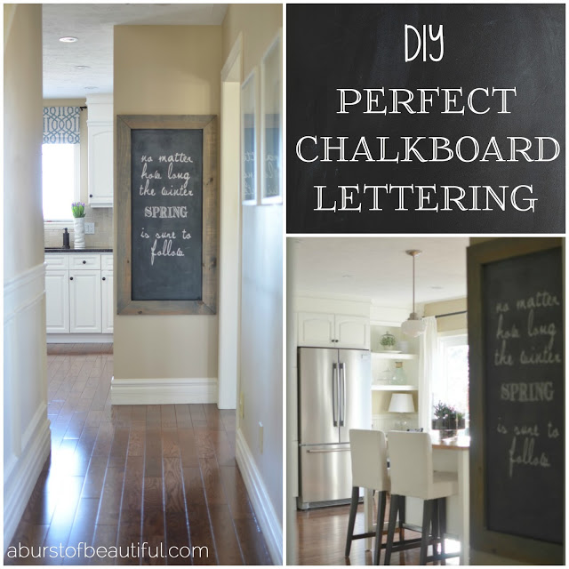 DIY Perfect Chalkboard Lettering Collage