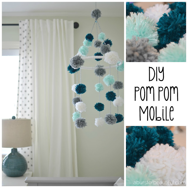 Diy Pom Pom Nursery Mobile Dan330