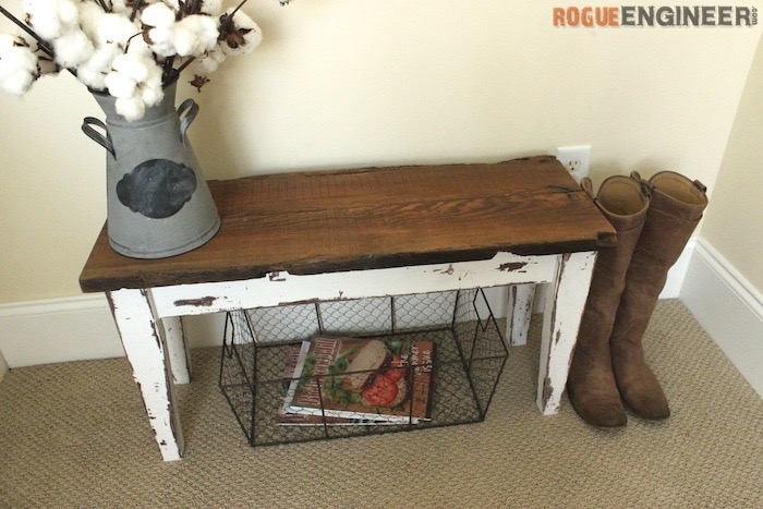 DIY Small Entry Bench Plans - Rogue Engineer 1
