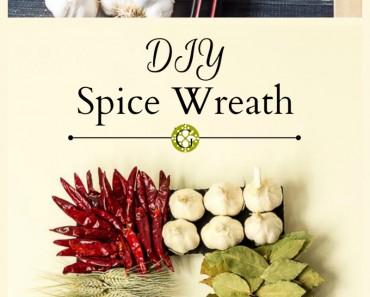 DIY Spice Wreath collage - gardenmatter.com