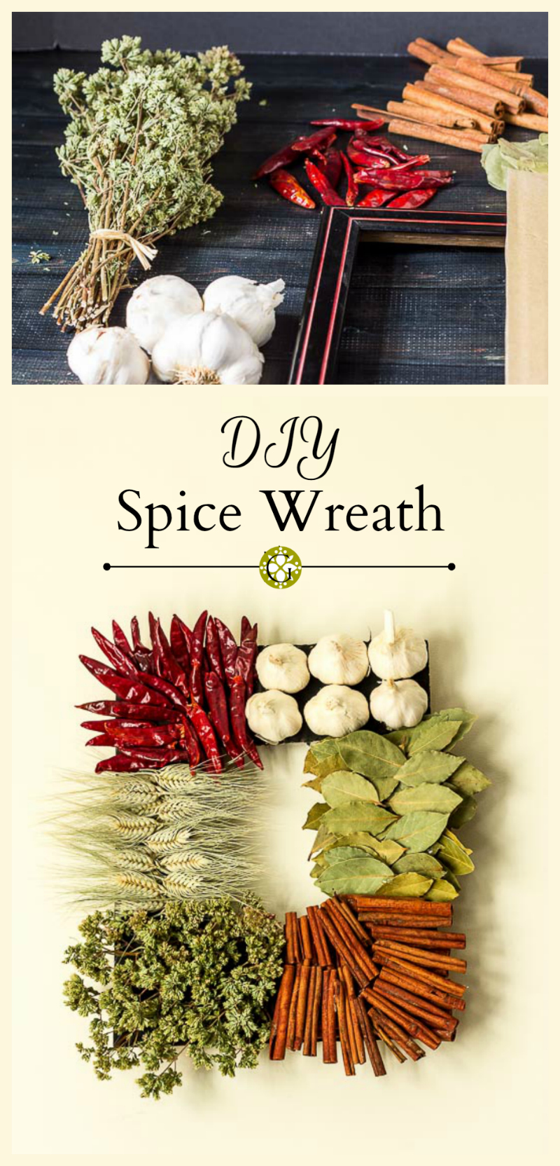 Easy DIY Spice Wreath