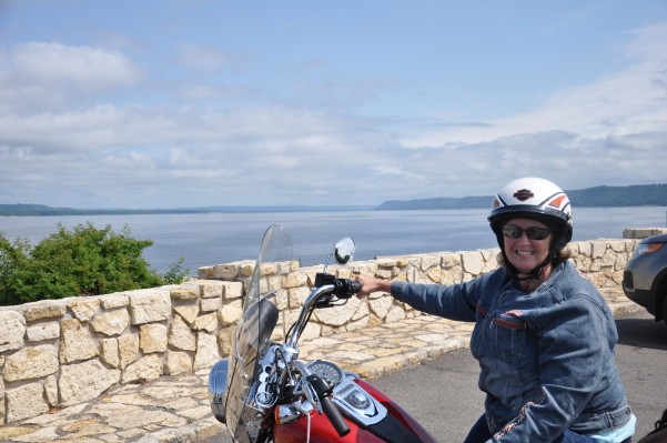 Biker Grandma, Lake Pepin at Lake City, MN