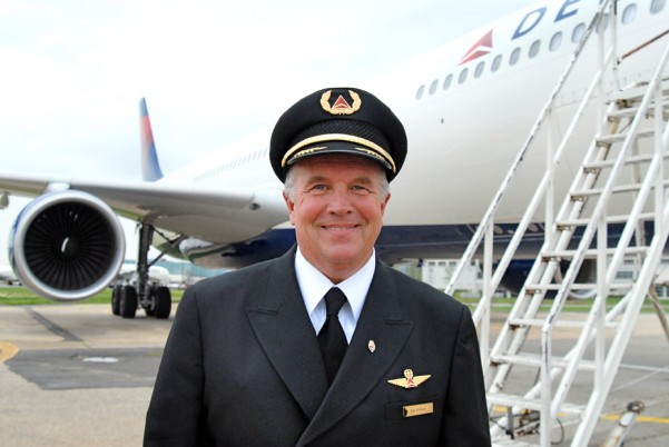 Capt. Dan Ashbach, flew first A330 in Delta livery to ATL