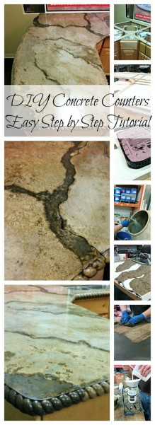 EASY STEP BY STEP DIY CONCRETE COUNTERTOP TUTORIAL