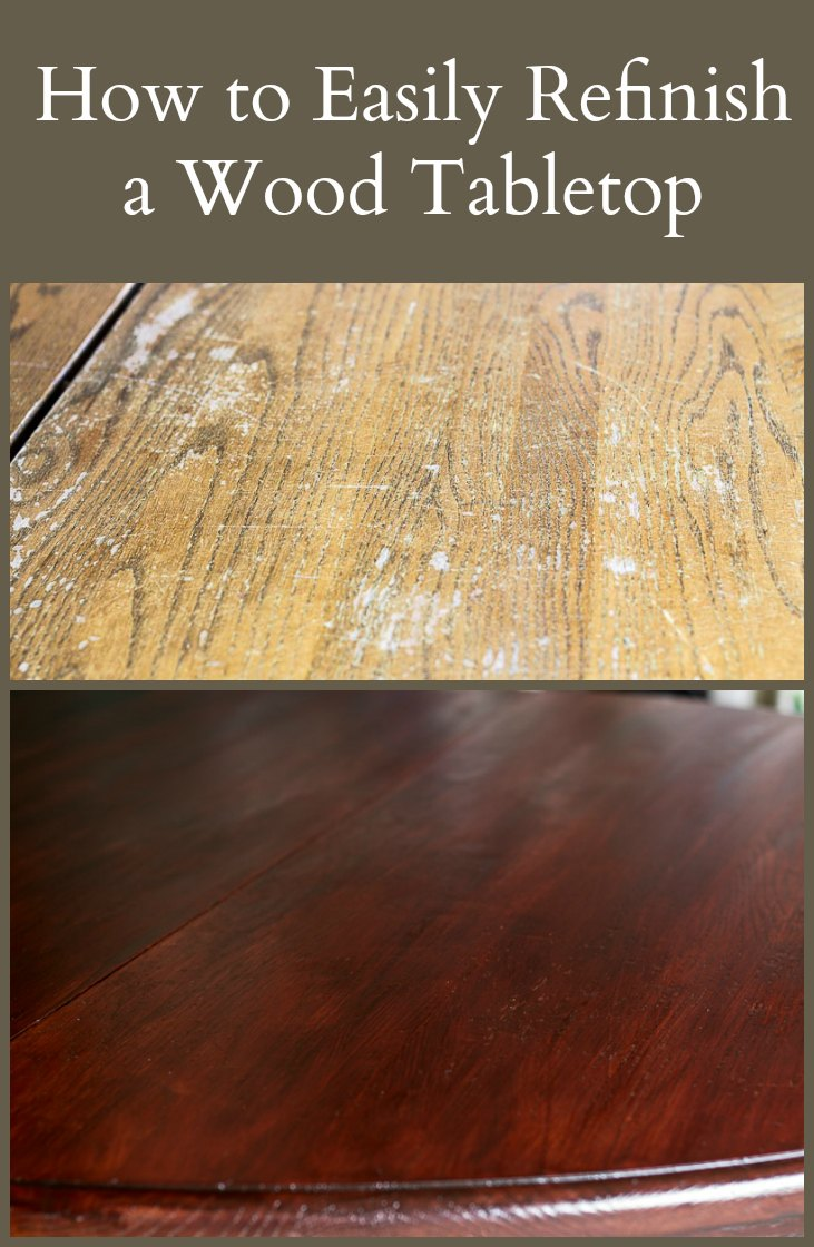 easily-refinish-wood-tabletop
