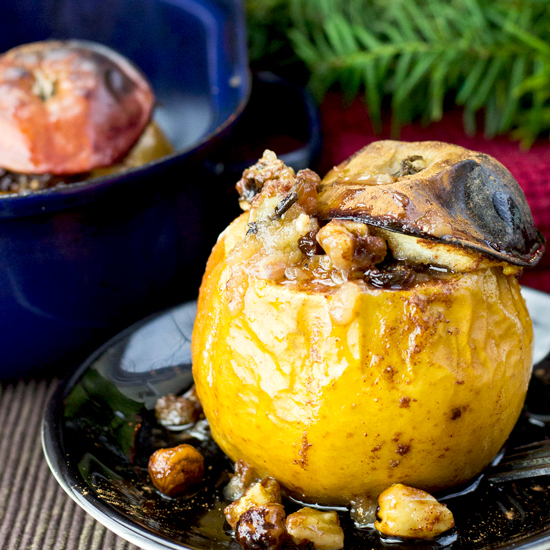 Easy Baked Apples with Cinnamon Nut Stuffing