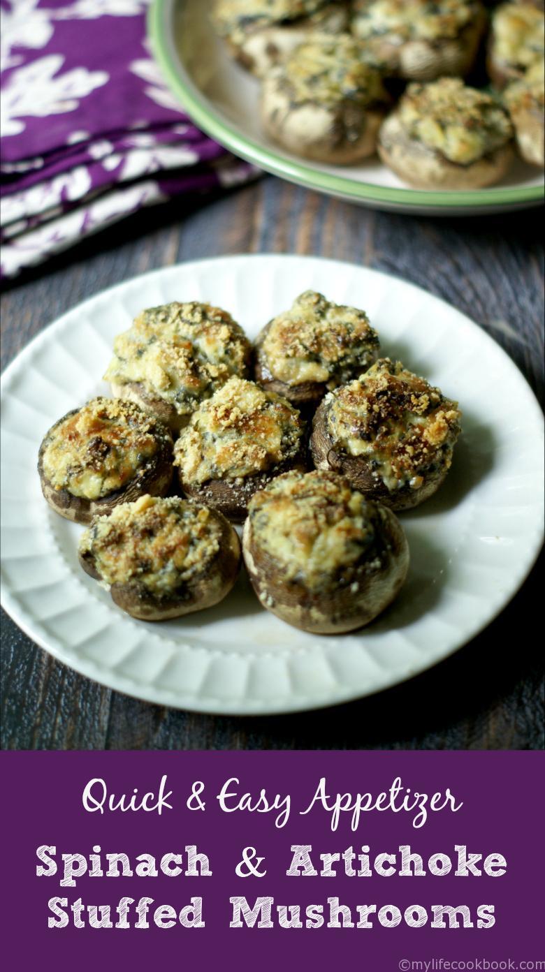 Easy-Spinach-Artichoke-Stuffed-Mushrooms-P