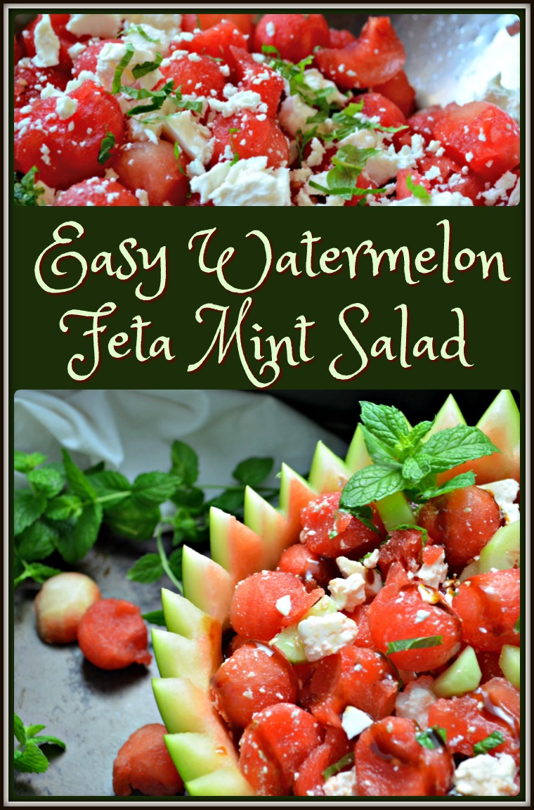 Easy Watermelon Feta Mint Salad