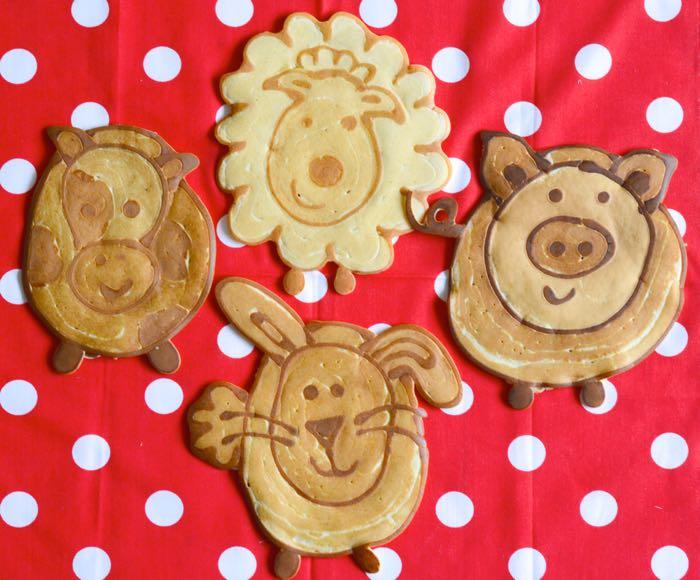 Farmyard Pancakes sheep pig rabbit cow