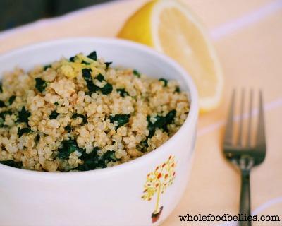 spinach brunch bowl