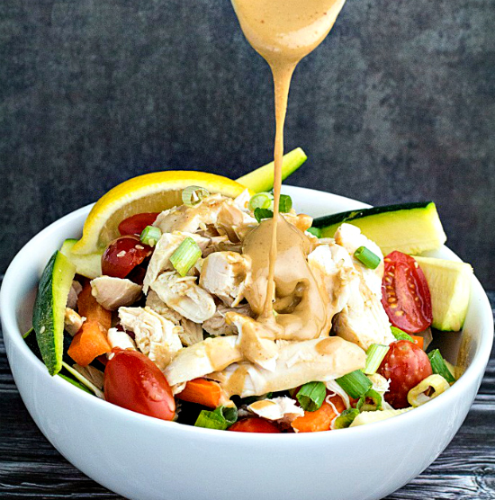 Grilled Chicken Salad with Thai Peanut Dressing