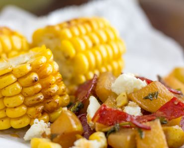 Grilled-Corn-with-Pear-Chorizo-Salad-Recipe
