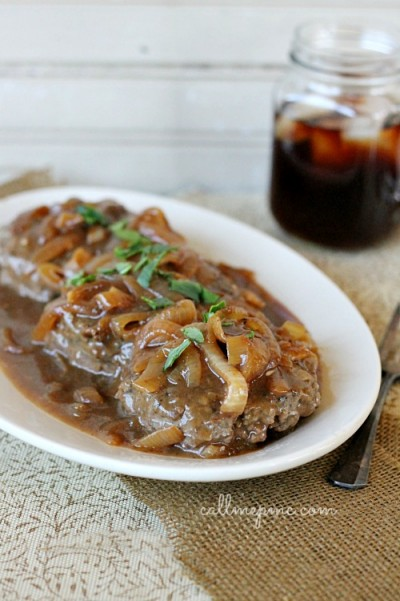 Hamburger Steak Onions Brown Gravy
