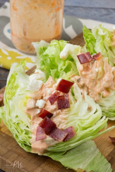 Homemade Sriracha Thousand Island Dressing Wedge Salad 2w