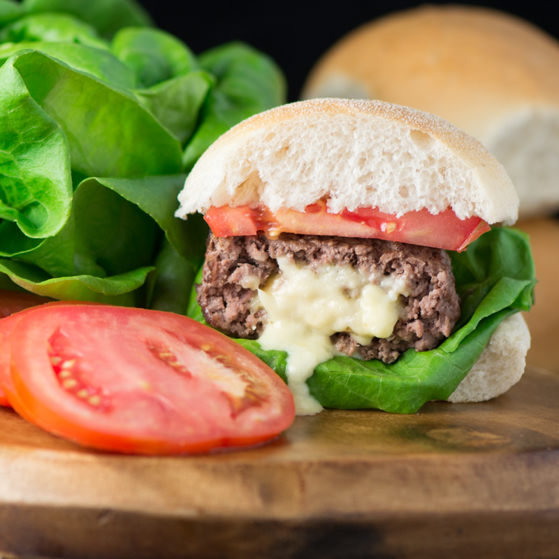 Homemade Stuffed Cheese Burgers 4