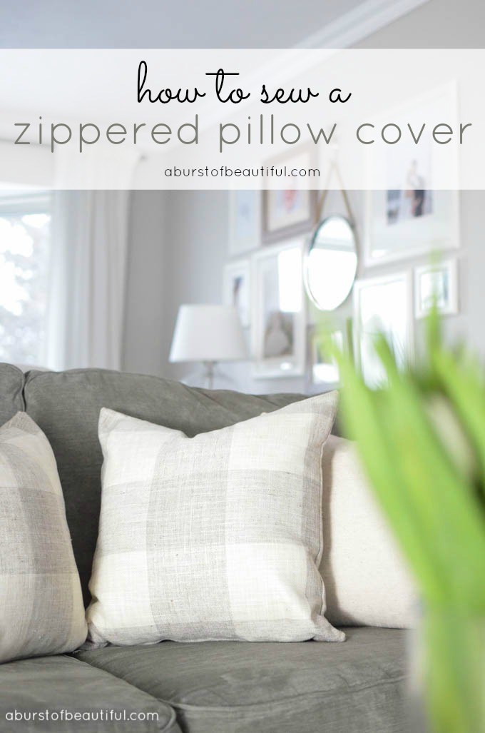 DIY - How to Sew a Zippered Pillow
