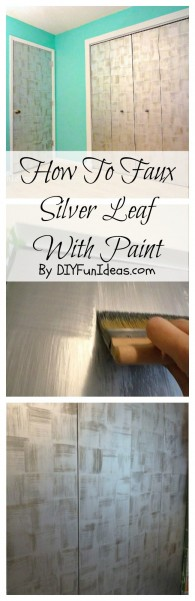How to faux silver leaf with paint2