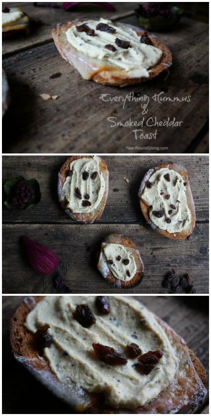 Hummus Toast Collage