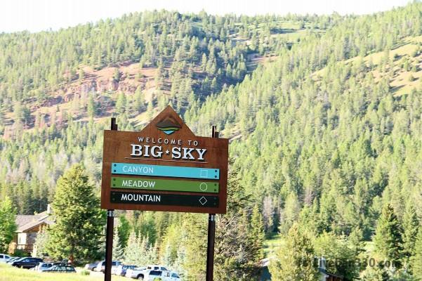 big sky welcome sign