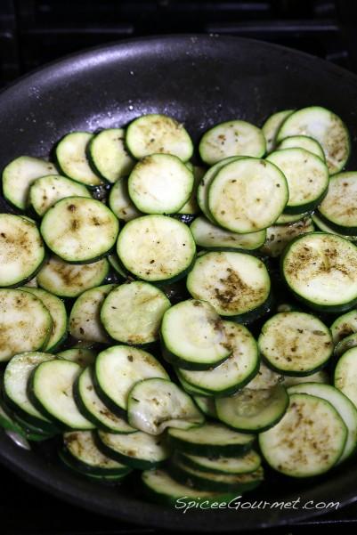 sauteeing zucchini