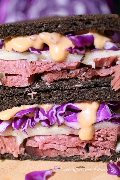 corned beef and cabbage sandwich